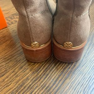 Tory Burch taupe booties